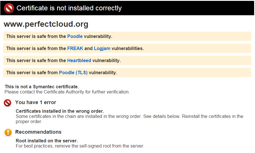 Symantec SSL Toolbox error