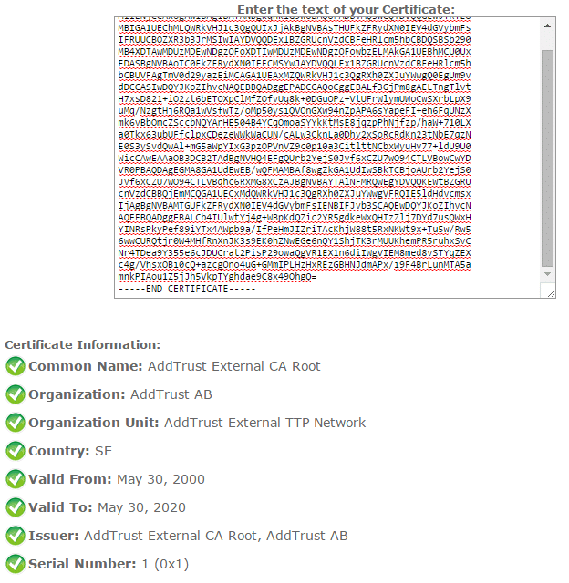 online certificate decoder result root ca