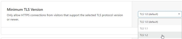 Minimum TLS version to improve SSL Labs score